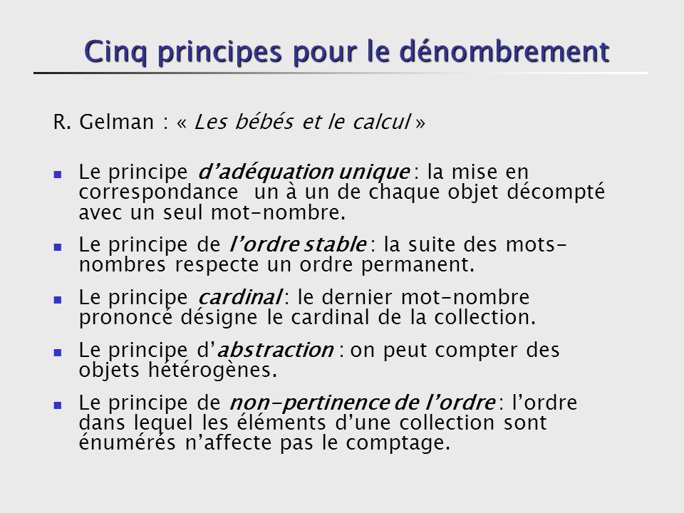 Cinq principes pour le dénombrement