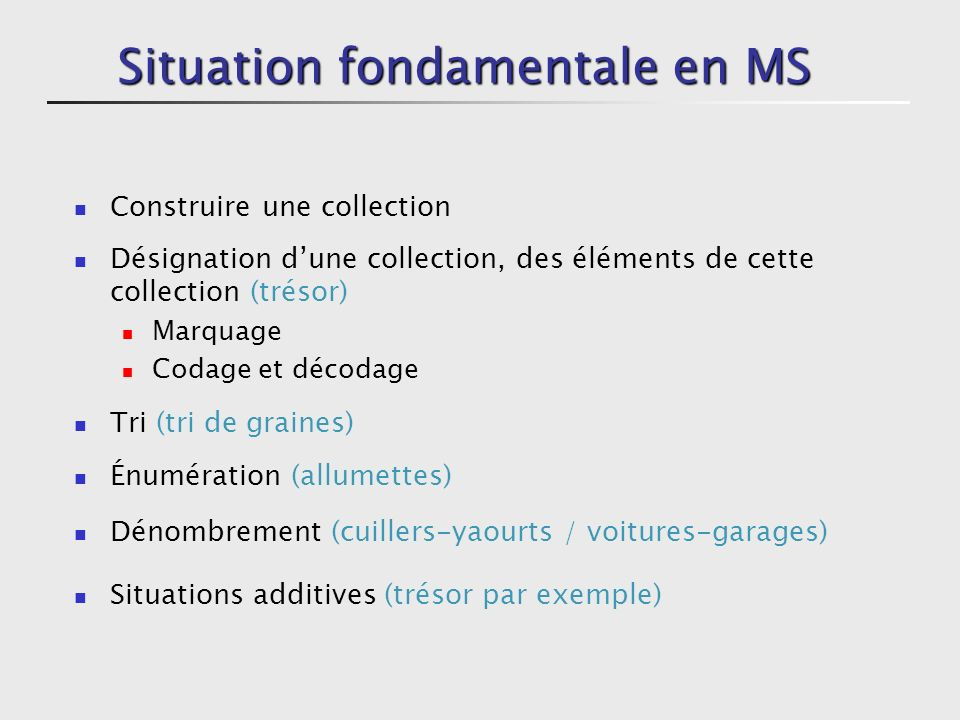 Situation fondamentale en MS