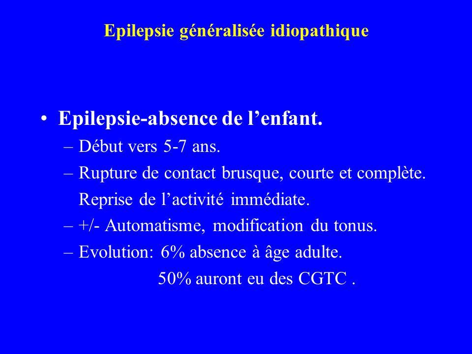 Epilepsie généralisée idiopathique