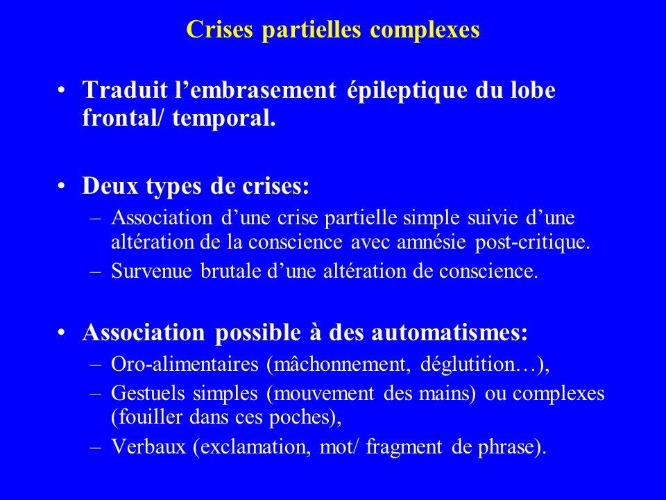 Crises partielles complexes