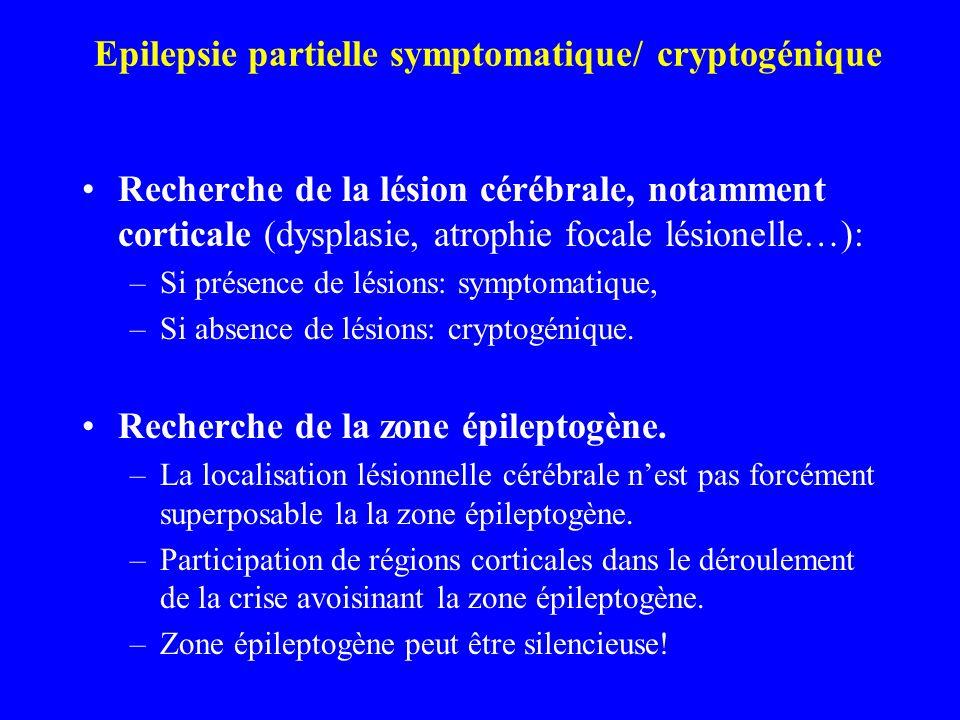 Epilepsie partielle symptomatique/ cryptogénique