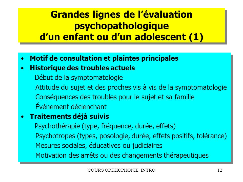 COURS ORTHOPHONIE INTRO