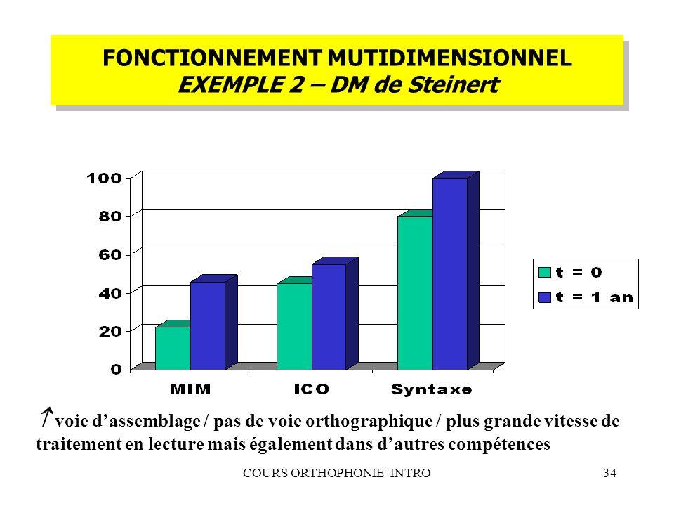 FONCTIONNEMENT MUTIDIMENSIONNEL EXEMPLE 2 – DM de Steinert