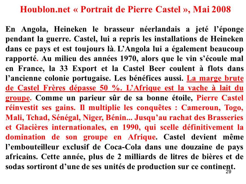 Houblon.net « Portrait de Pierre Castel », Mai 2008