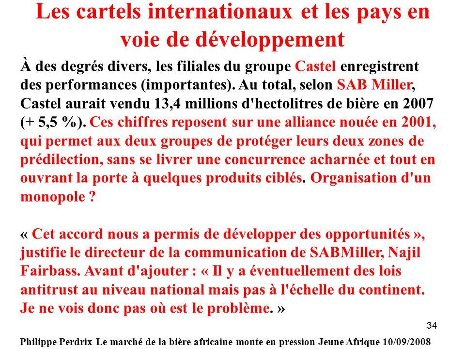 Les cartels internationaux et les pays en voie de développement