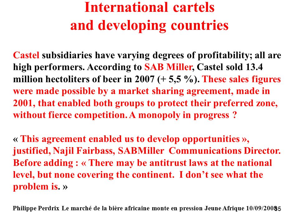 International cartels and developing countries
