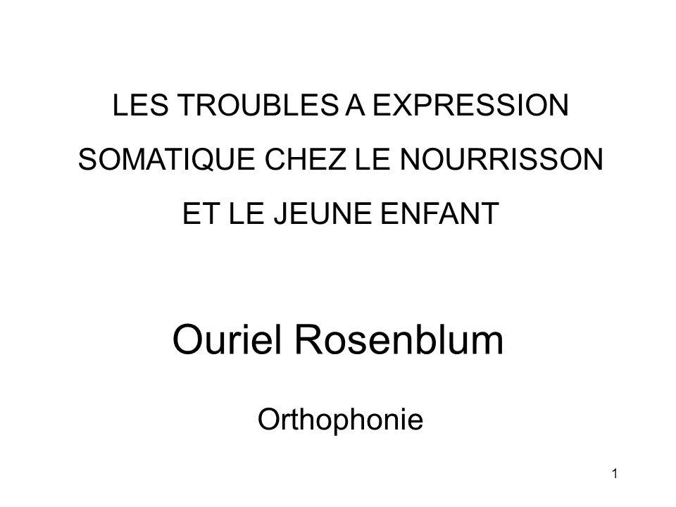 Ouriel Rosenblum LES TROUBLES A EXPRESSION