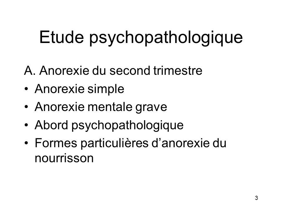 Etude psychopathologique
