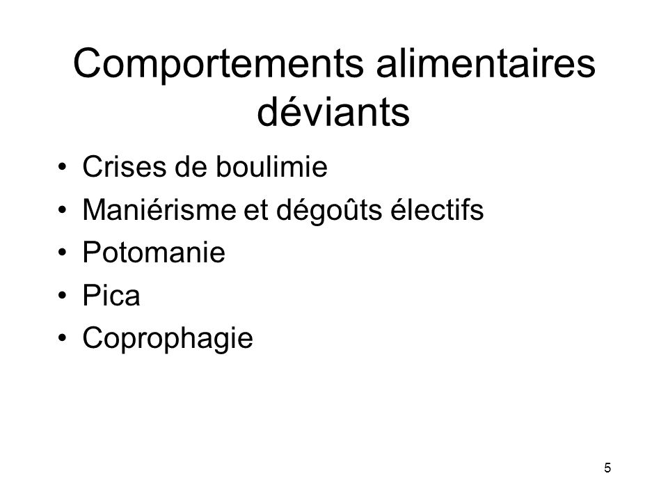 Comportements alimentaires déviants