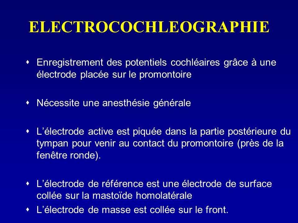ELECTROCOCHLEOGRAPHIE