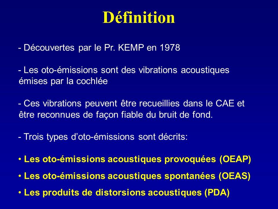 Définition - Découvertes par le Pr. KEMP en 1978