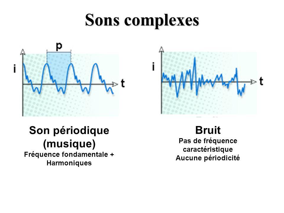 Sons complexes Son périodique (musique) Bruit