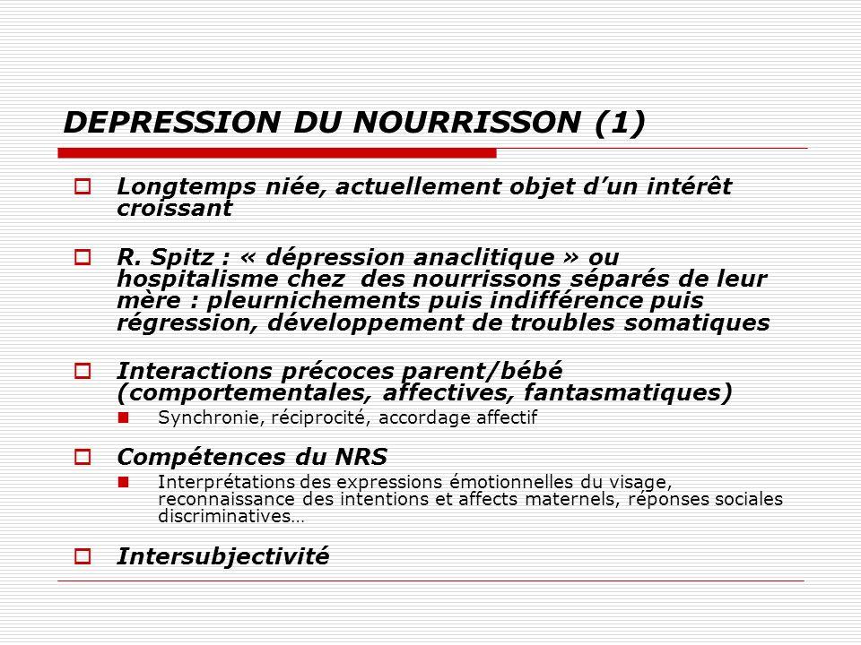 DEPRESSION DU NOURRISSON (1)
