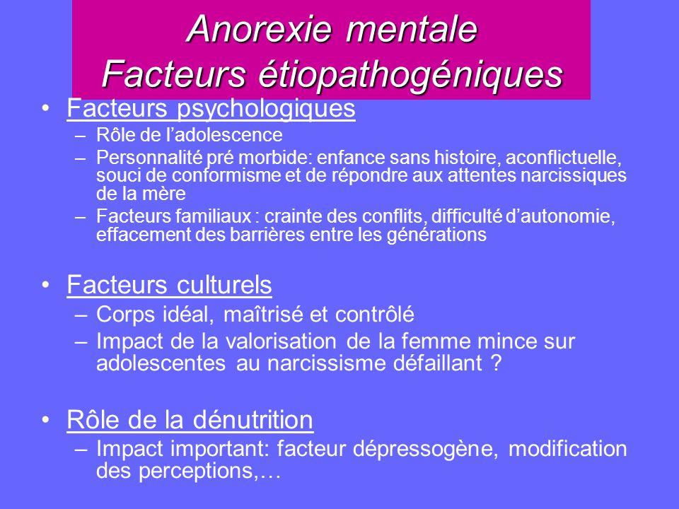 Anorexie mentale Facteurs étiopathogéniques