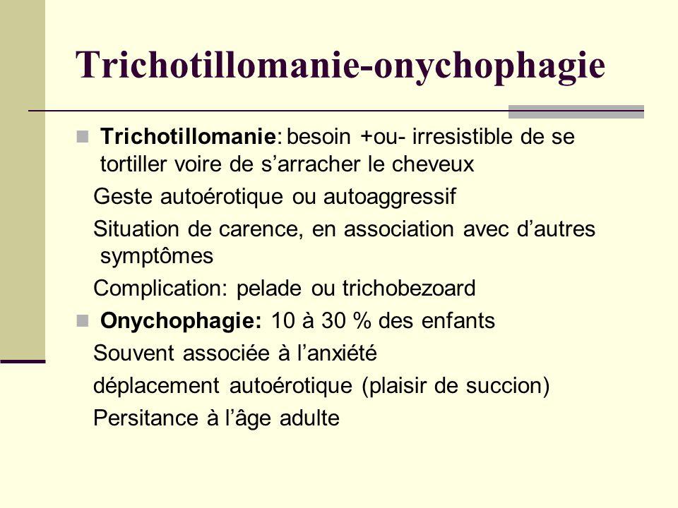 Trichotillomanie-onychophagie