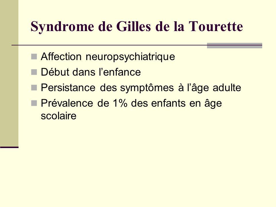 Syndrome de Gilles de la Tourette