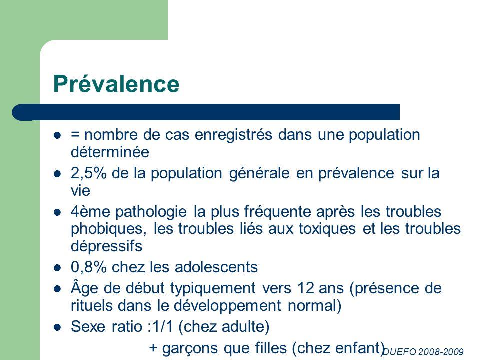 Prévalence = nombre de cas enregistrés dans une population déterminée