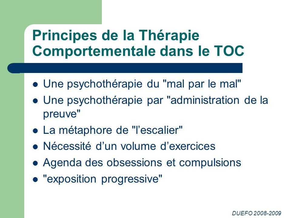 Principes de la Thérapie Comportementale dans le TOC
