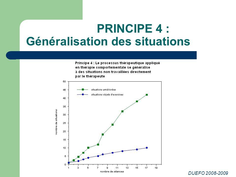 PRINCIPE 4 : Généralisation des situations
