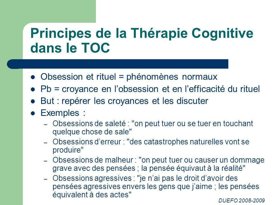 Principes de la Thérapie Cognitive dans le TOC