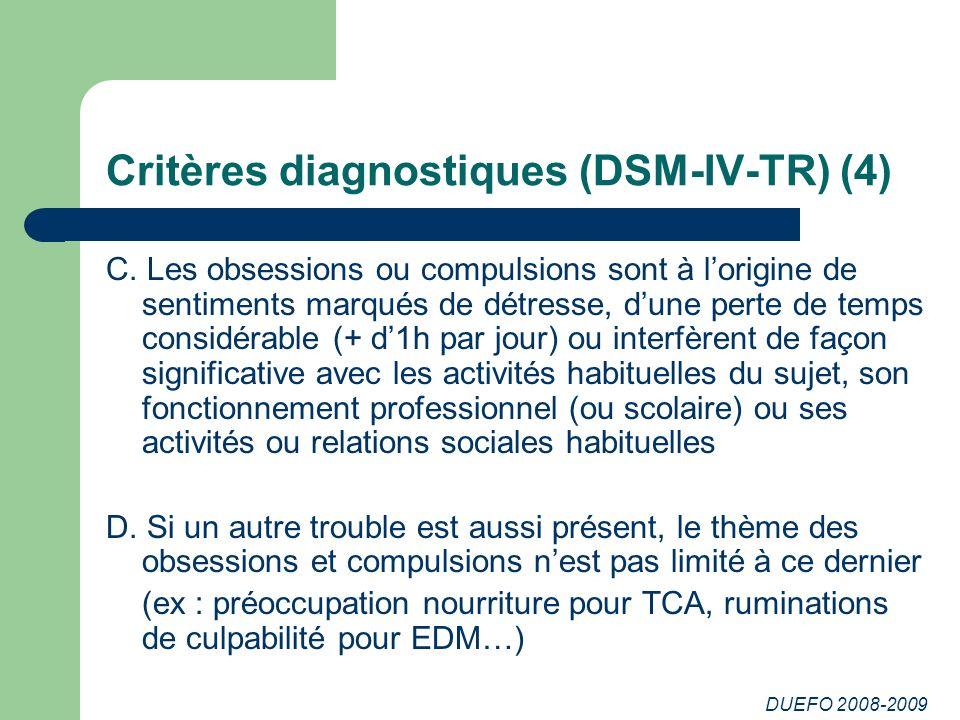 Critères diagnostiques (DSM-IV-TR) (4)