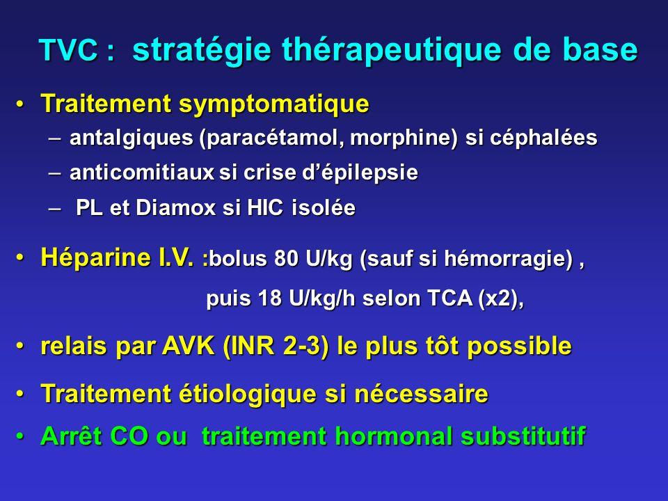 TVC : stratégie thérapeutique de base