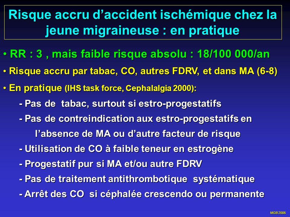 Risque accru d'accident ischémique chez la jeune migraineuse : en pratique