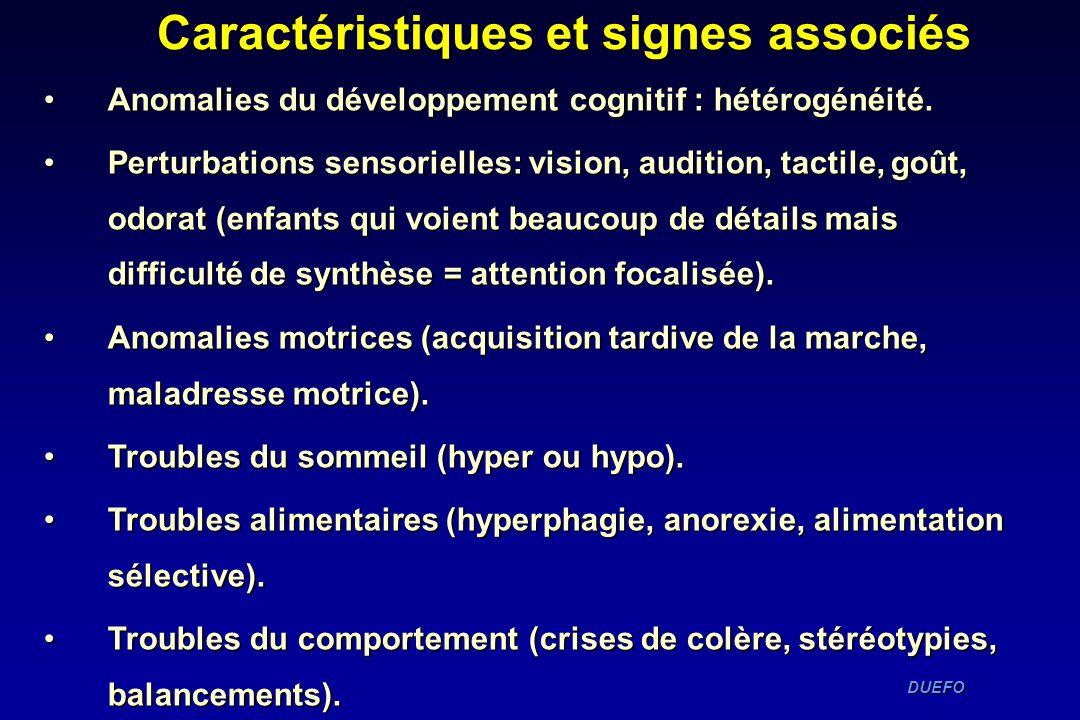 Caractéristiques et signes associés