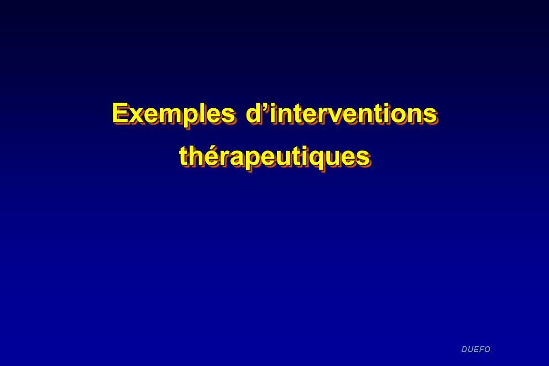 Exemples d'interventions thérapeutiques