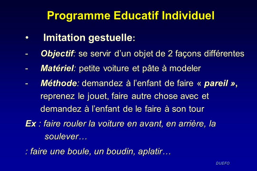 Programme Educatif Individuel