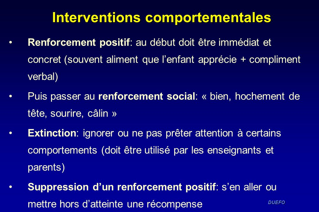 Interventions comportementales