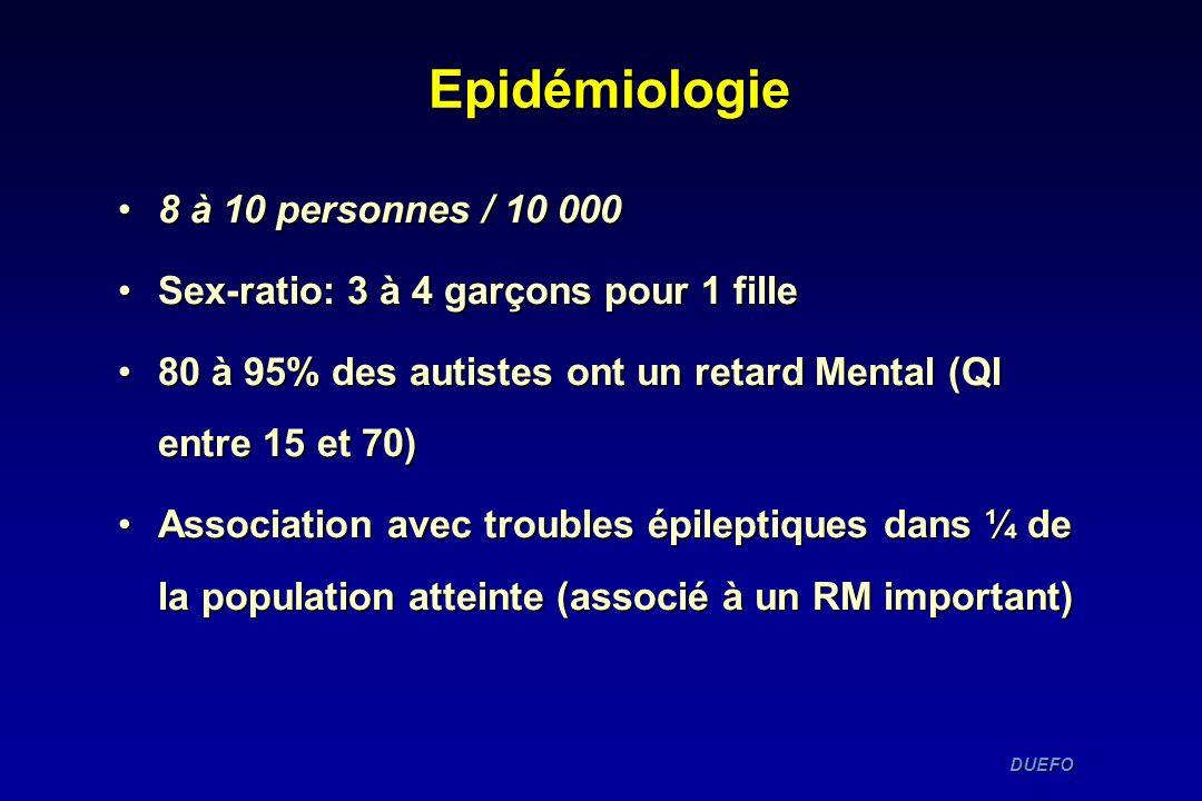 Epidémiologie 8 à 10 personnes / 10 000