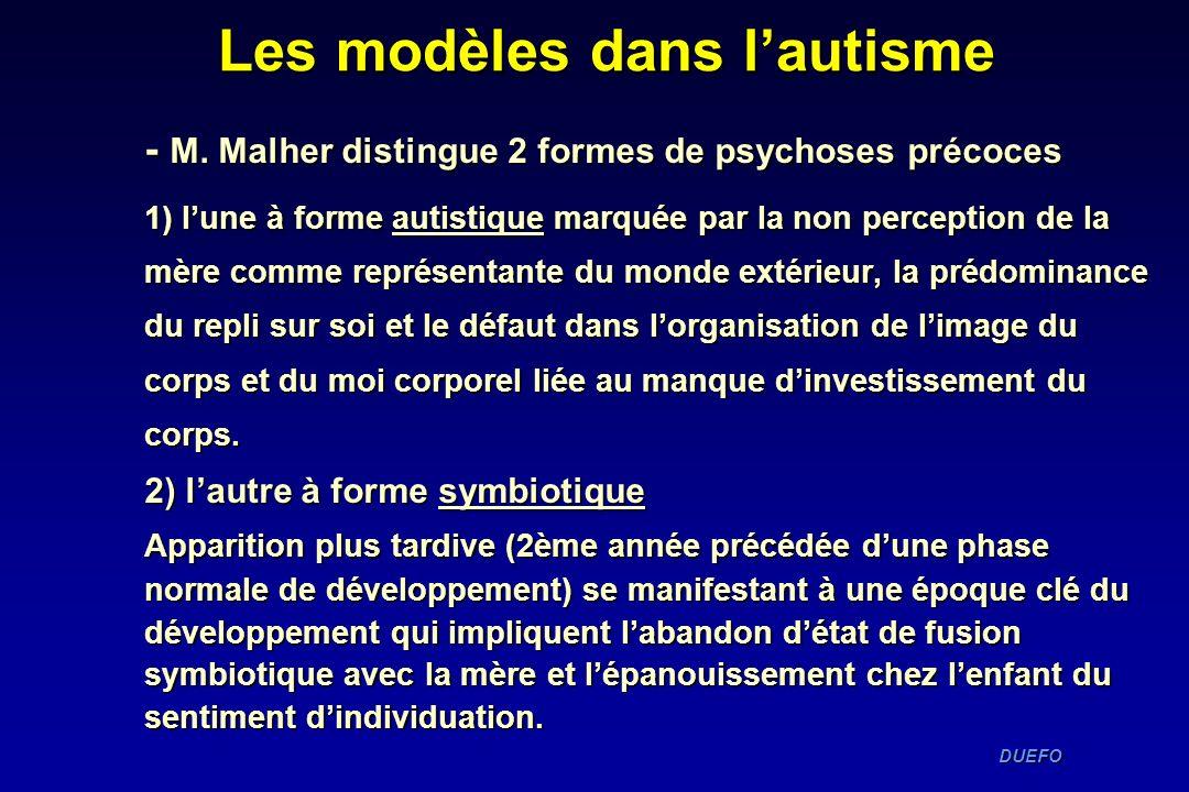 Les modèles dans l'autisme
