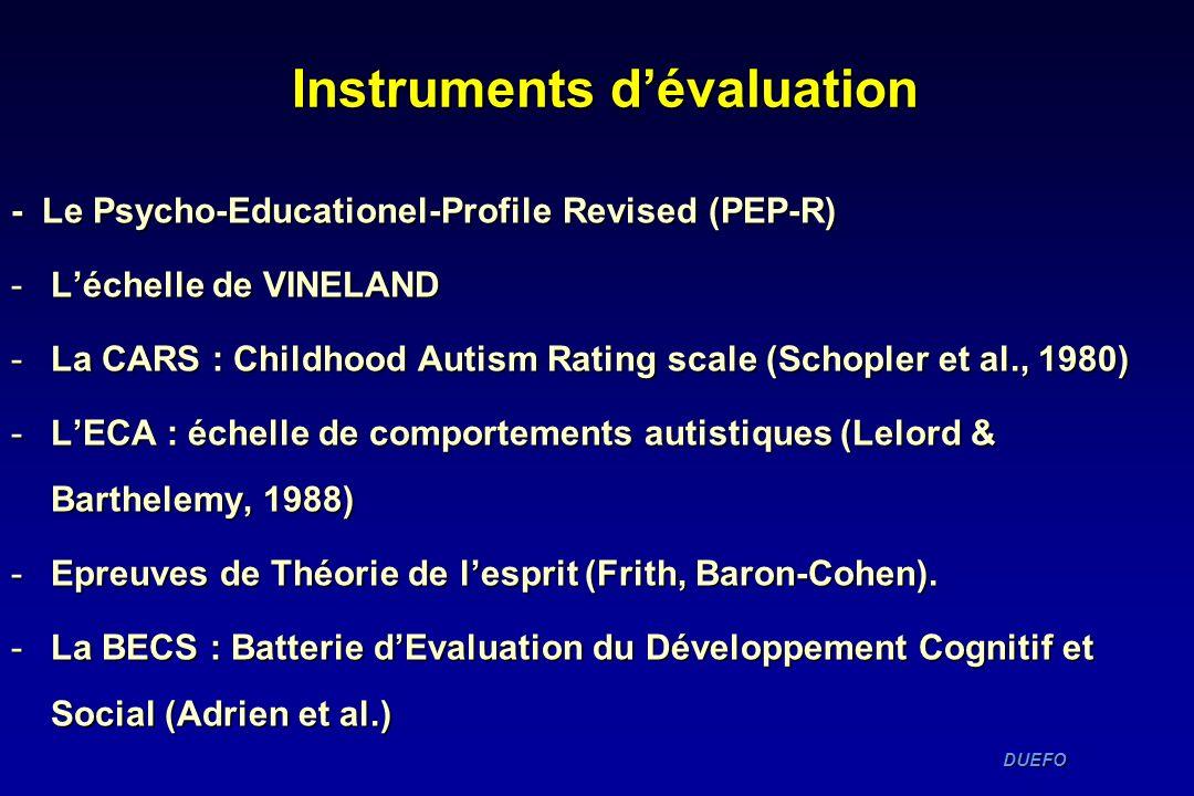 Instruments d'évaluation