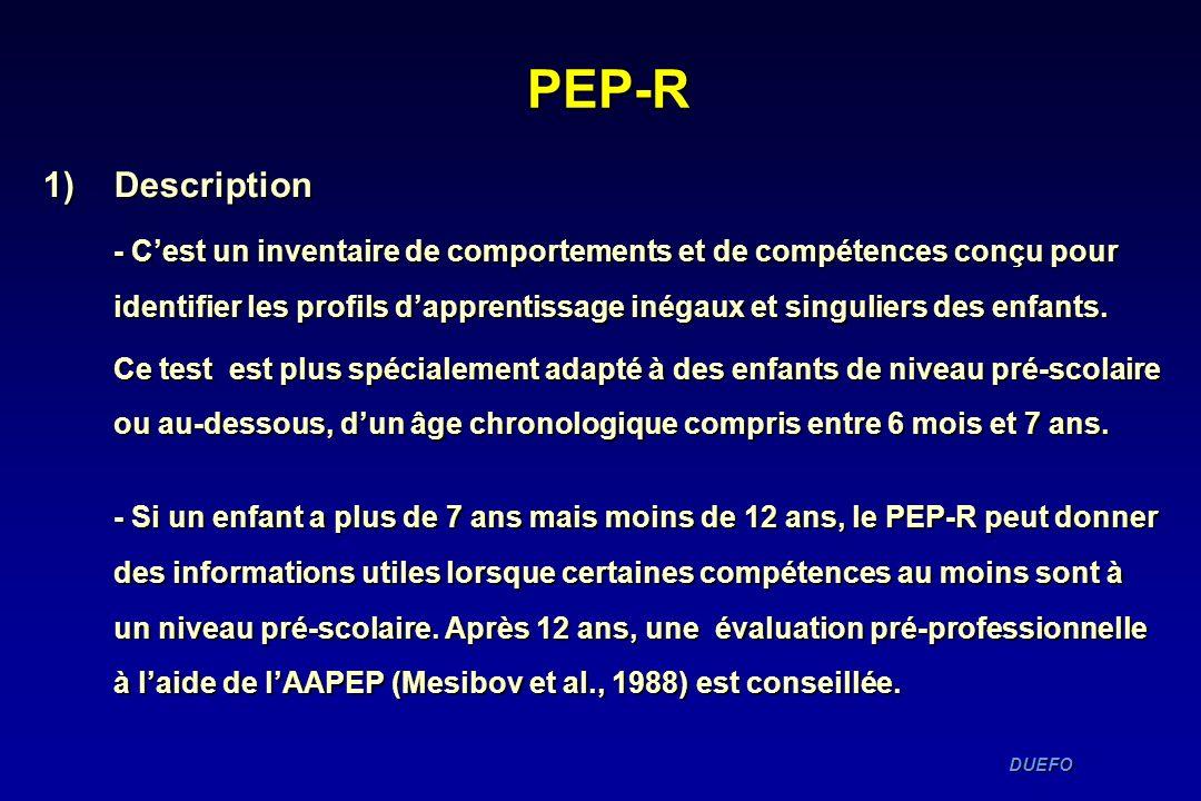 PEP-R Description.