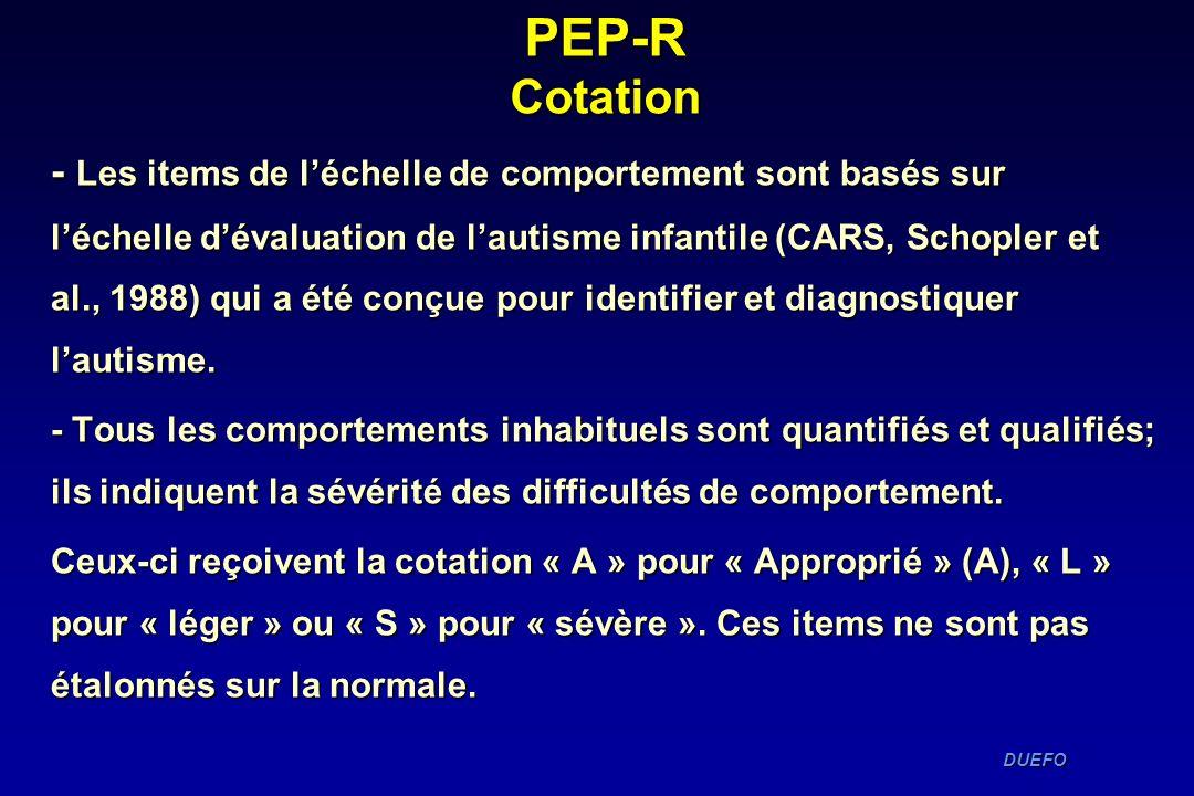 PEP-R Cotation