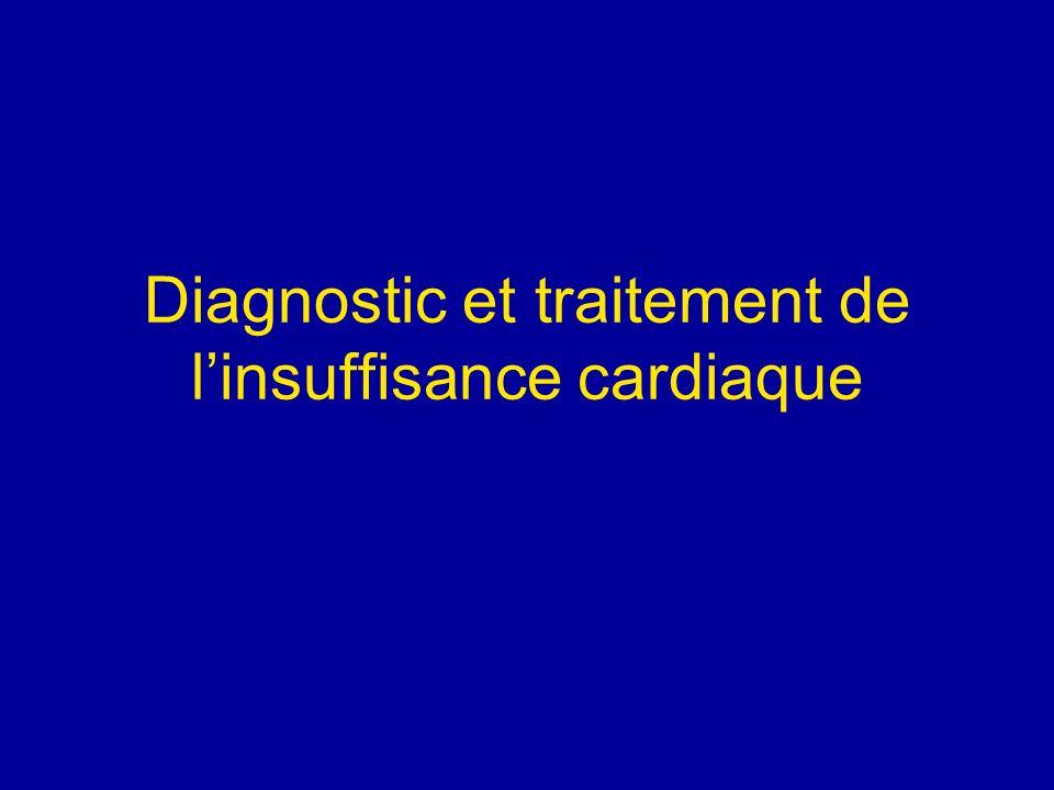 Diagnostic et traitement de l'insuffisance cardiaque