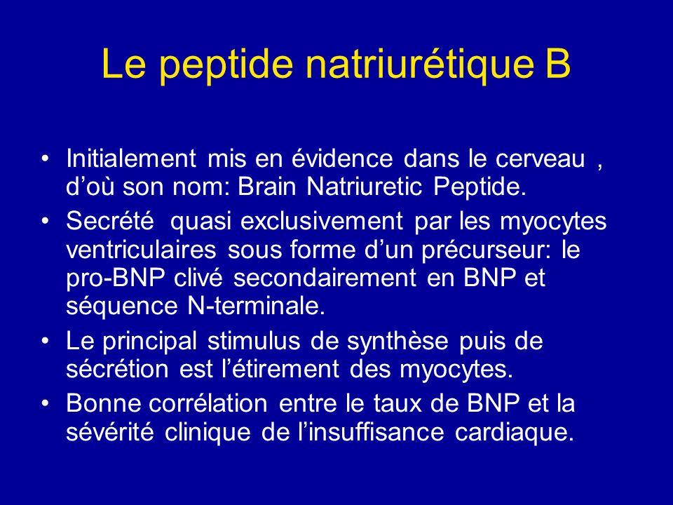 Le peptide natriurétique B