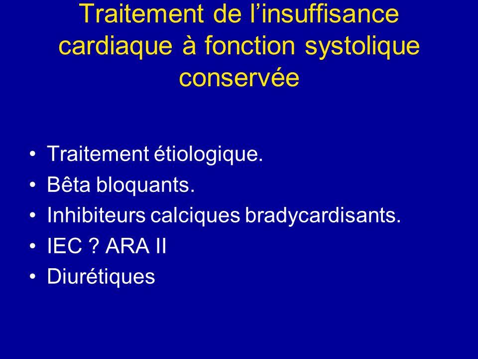 Traitement de l'insuffisance cardiaque à fonction systolique conservée
