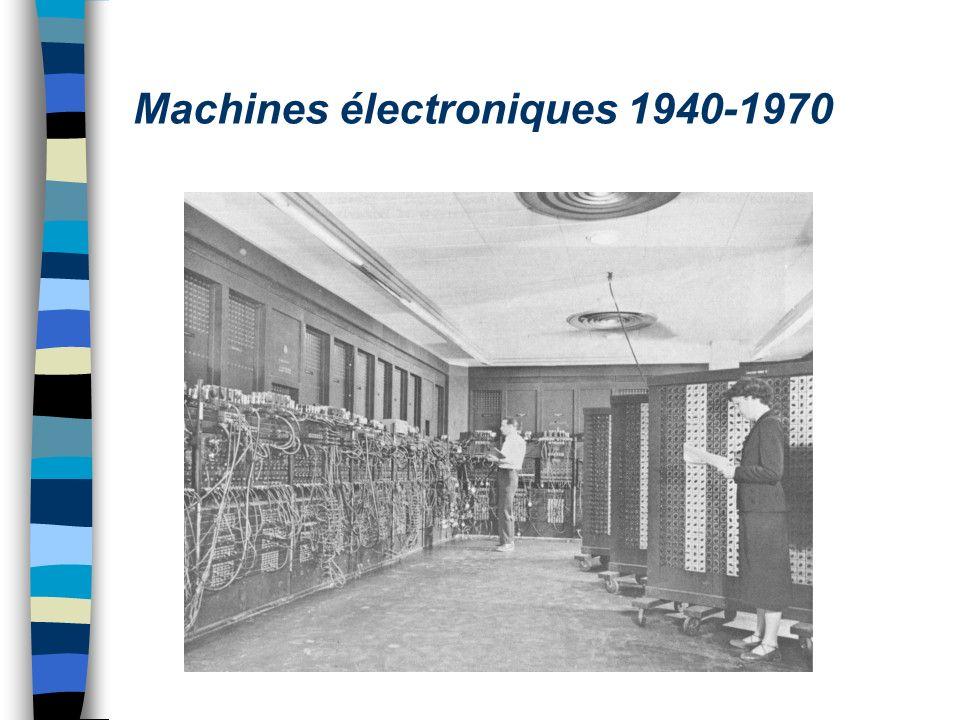 Machines électroniques 1940-1970
