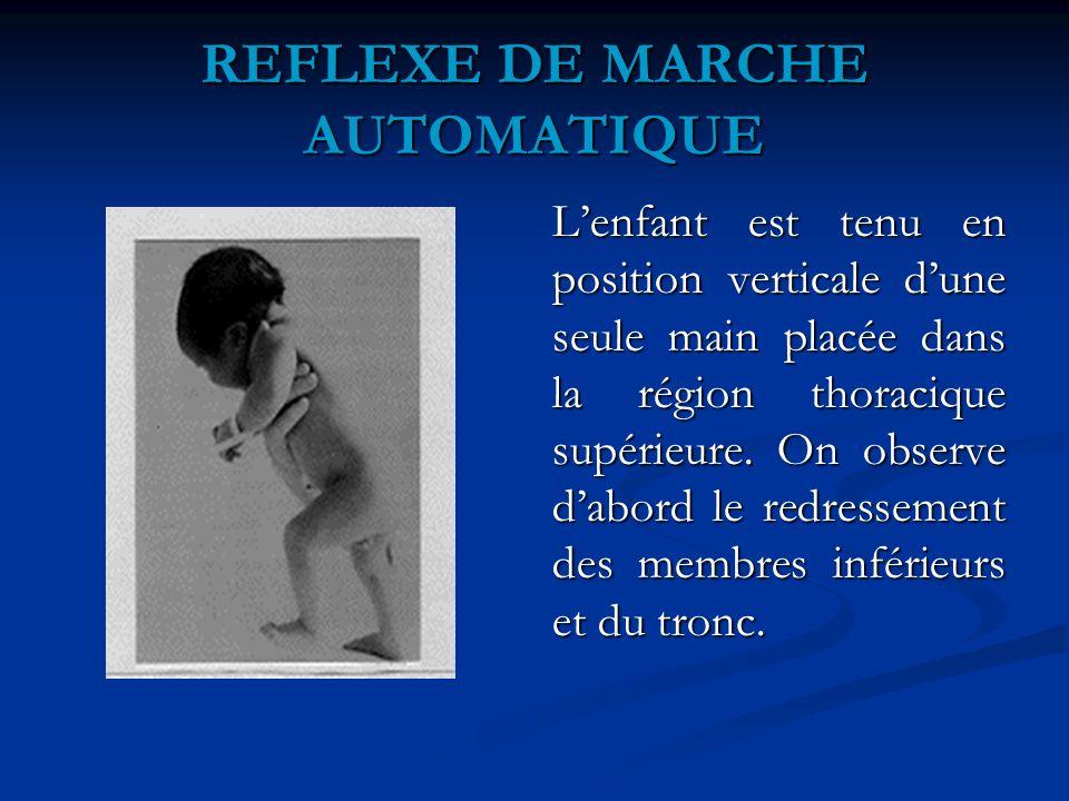 REFLEXE DE MARCHE AUTOMATIQUE