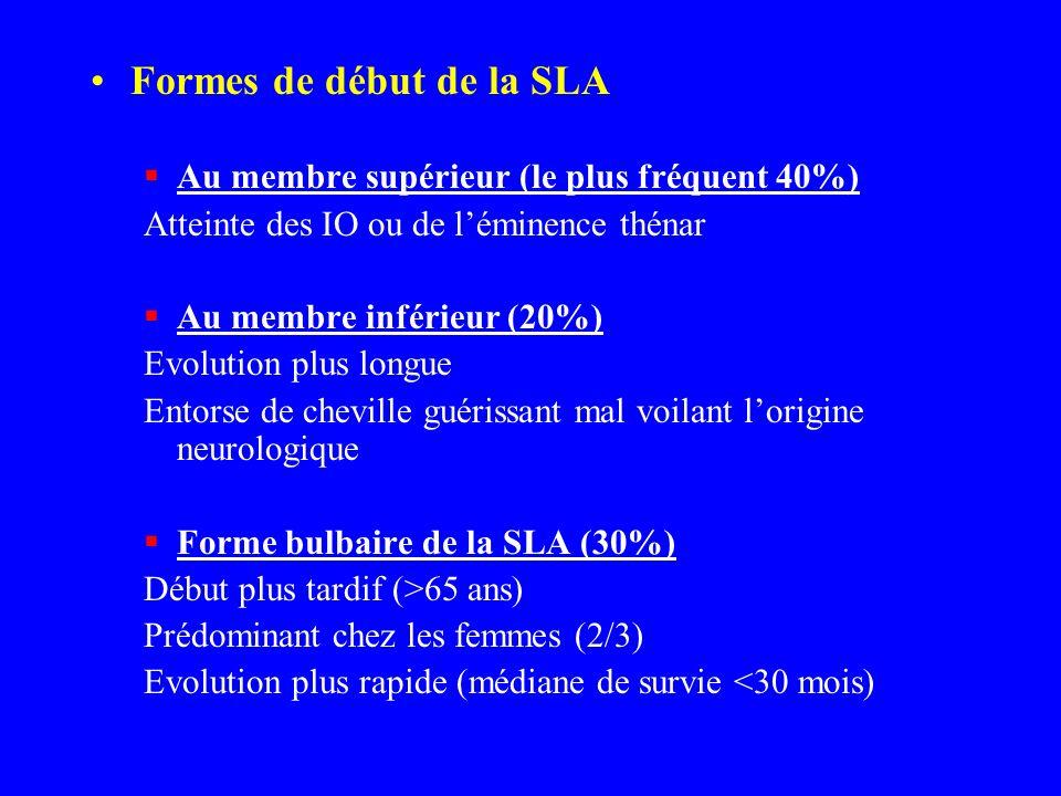 Formes de début de la SLA