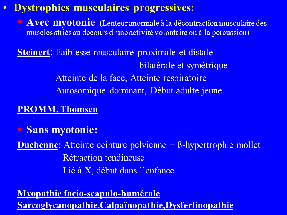 Dystrophies musculaires progressives: