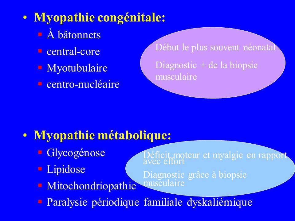 Myopathie congénitale: