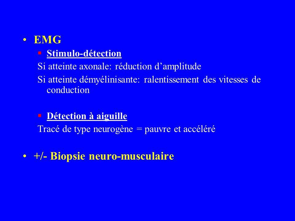 +/- Biopsie neuro-musculaire