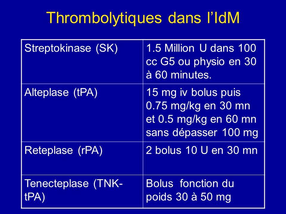 Thrombolytiques dans l'IdM