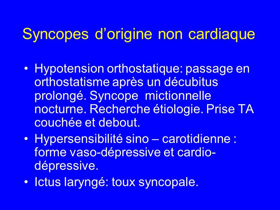 Syncopes d'origine non cardiaque