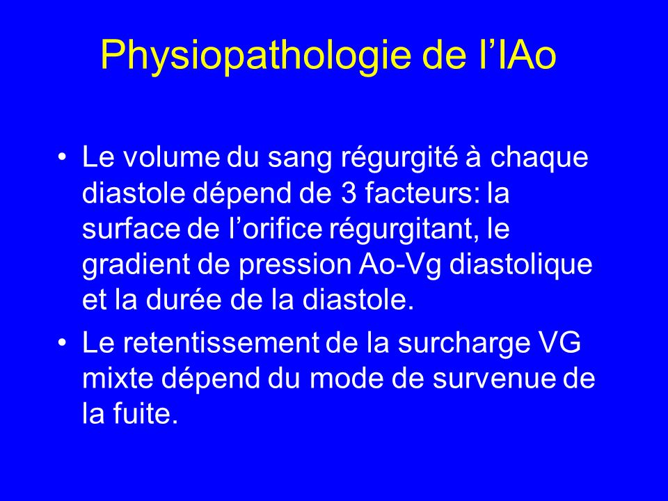 Physiopathologie de l'IAo