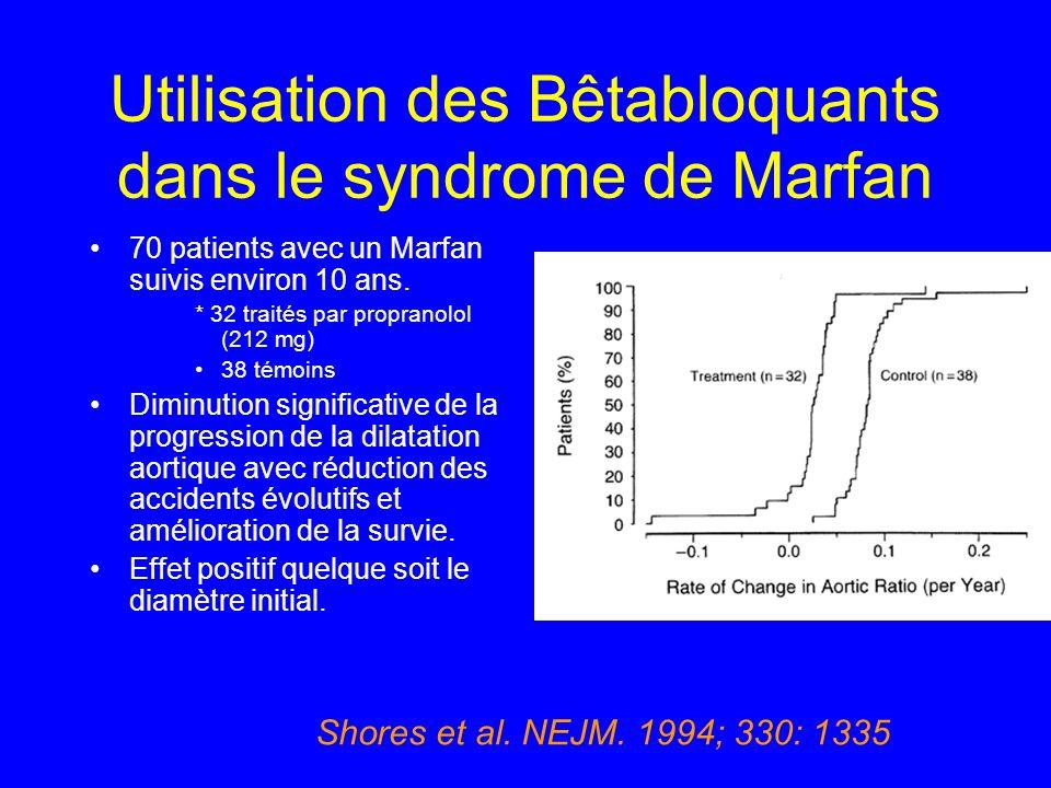 Utilisation des Bêtabloquants dans le syndrome de Marfan