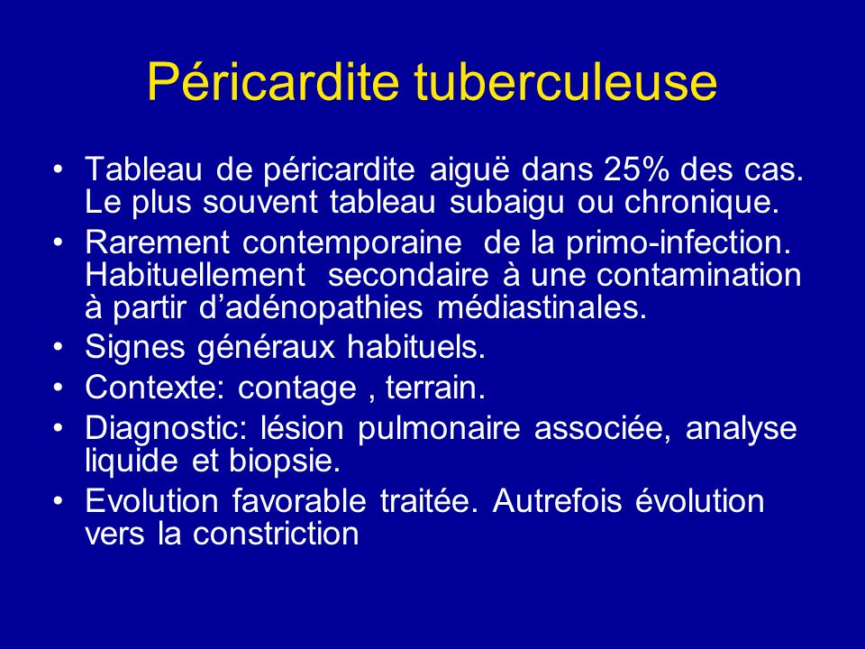 Péricardite tuberculeuse